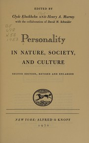 Personality in nature, society, and culture