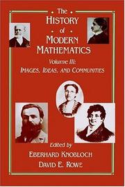 Cover of: The history of modern mathematics by Symposium on the History of Modern Mathematics (1989 Vassar College)