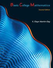 Cover of: Basic college mathematics | K. Elayn Martin-Gay