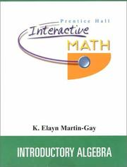 Cover of: Introductory Algebra | K. Elayn Martin-Gay