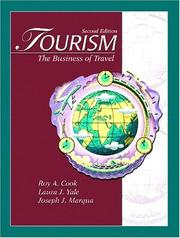 Cover of: Tourism | Roy A. Cook, Laura J. Yale, Joseph J. Marqua