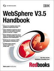 Cover of: WebSphere V3.5 handbook | Ken Ueno