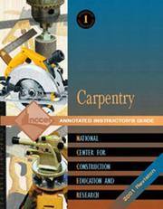 Cover of: Carpentry Level One | Nccer
