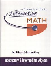 Cover of: Prentice Hall Interactive Math Introductory and Intermediate Algebra Student Package by K. Elayn Martin-Gay
