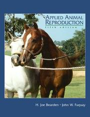 Cover of: Applied animal reproduction | H. Joe Bearden