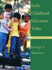 Cover of: Early Childhood Education Today by George S. Morrison