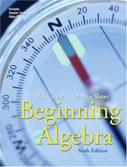 Cover of: Beginning algebra | John Tobey