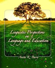 Cover of: Linguistic Perspectives on Language and Education | Anita Barry