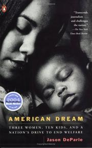 Cover of: American Dream | Jason DeParle