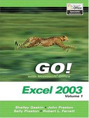 Cover of: GO! with Microsoft Excel 2003 Vol. 1 and Student CD Package (Go Series for Microsoft Office 2003) | Shelley Gaskin