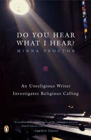 Cover of: Do You Hear What I Hear? | Minna Proctor