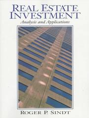 Cover of: Real Estate Investment | Roger P. Sindt