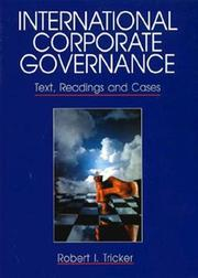 Cover of: International corporate governance | R. Ian Tricker