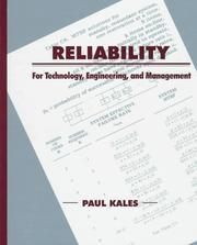 Cover of: Reliability | Paul Kales