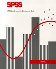 Cover of: SPSS Advanced Statistics 7.5 by SPSS Inc.