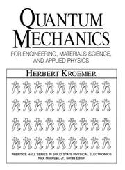 Cover of: Quantum mechanics | Herbert Kroemer