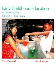 Cover of: Early childhood education | Carol Seefeldt, Nita H. Barbour