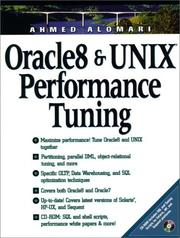 Cover of: Oracle8 and UNIX performance tuning | Ahmed Alomari