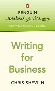 Cover of: Writing for Business | Chris Shevlin