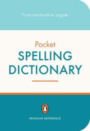 Cover of: Penguin Pocket Spelling Dictionary | David Crystal