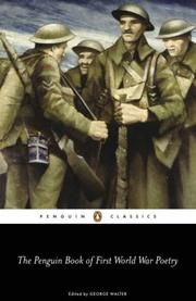 Cover of: The Penguin Book of First World War Poetry | George Walter