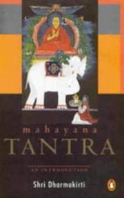 Cover of: Mahayana Tantra | Shiri Dharmakirti