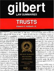 Cover of: Gilbert Law Summaries by Halbach