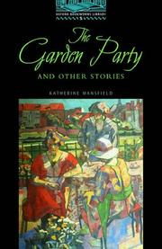 The garden party and other stories open library - The garden party katherine mansfield ...