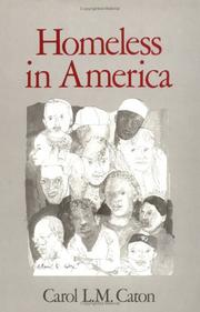 Cover of: Homeless in America by Carol L. M. Caton