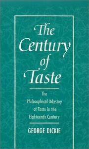 Cover of: The century of taste | George Dickie