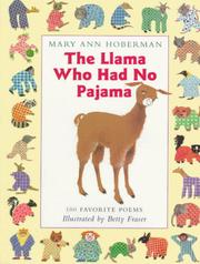 Cover of: Llama Who Had No Pajama by Mary Ann Hoberman