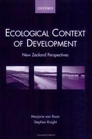 Cover of: Ecological context of development | Marjorie Van Roon