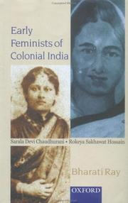 Cover of: Early feminists of colonial India by Bharati Ray
