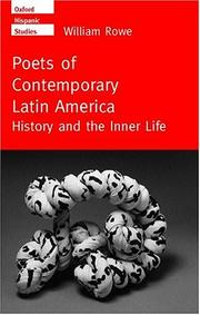 Cover of: Poets of Contemporary Latin America by William Rowe