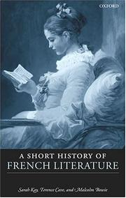 Cover of: Short history of French literature by Sarah Kay