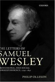 Cover of: The letters of Samuel Wesley | Wesley, Samuel