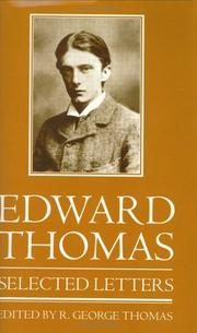 Cover of: Selected letters | Thomas, Edward