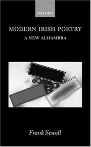 Cover of: Modern Irish Poetry | Frank Sewell
