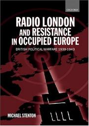 Cover of: Radio London and resistance in occupied Europe | Michael Stenton