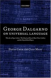 Cover of: George Dalgarno on universal language | George Dalgarno