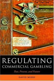 Cover of: Regulating Commercial Gambling | David Miers