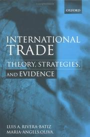 Cover of: International trade by Luis Rivera-Batiz