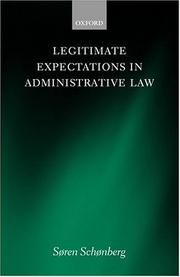 Cover of: Legitimate expectations in administrative law | Søren J. Schønberg