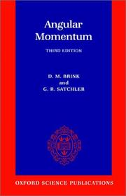 Cover of: Angular momentum | D. M. Brink