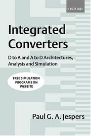 Cover of: Integrated converters | Paul G. Jespers