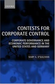 Cover of: Contests for Corporate Control by Mary O'Sullivan