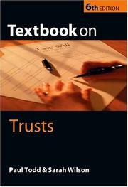 Cover of: Textbook on Trusts | Paul Todd