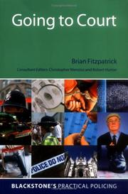 Cover of: Going to court | Fitzpatrick, Brian.