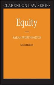 Cover of: Equity by Sarah Worthington