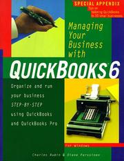 Cover of: Managing your business with QuickBooks 6 by Charles Rubin